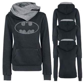 sweater batman grey black