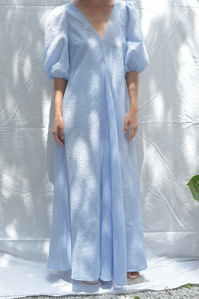 581bf6995e57 Ganni Charron Maxi Dress - Serenity Blue