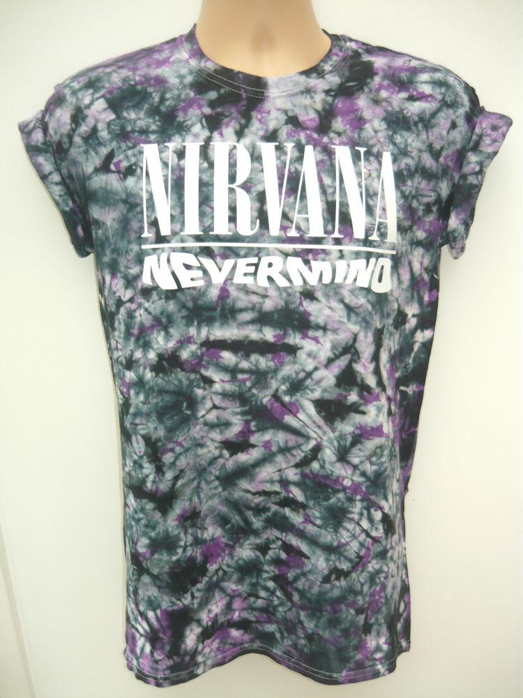 Nirvana nevermind acid wash t shirt rave indie retro old school trash