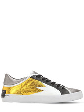sneakers,leather,silver,black,shoes