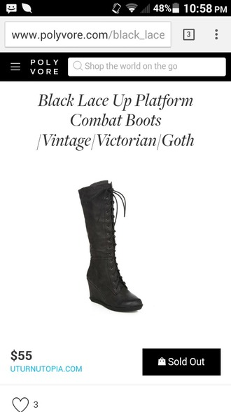 solid black lace up boots wedge heel wedge heel vintage european