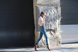 we wore what blogger jeans shoes