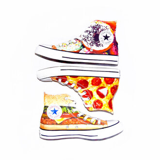 shoes converse donut pizza hamburger
