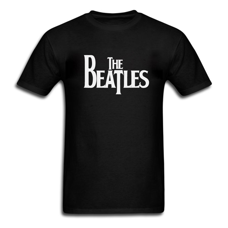 Classic The Beatles Drop T Logo T-Shirt - Black