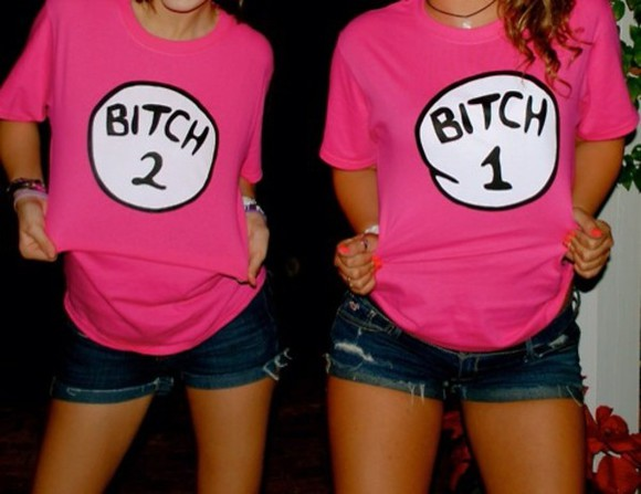 t-shirt shirt pink bitch black white funny 2 wow shorts denim