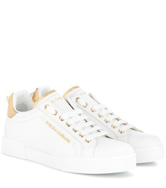 Dolce & Gabbana sneakers leather white shoes