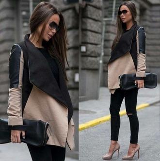 coat black coat two colour coat