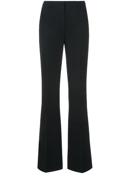 AKRIS women black wool pants