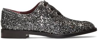 glitter oxfords silver silver glitter shoes
