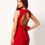 Red Sleeveless Backless Bow Bodycon Dress - Sheinside.com