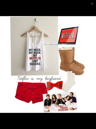 tank top netflixin netflix t shirt lazy day comfy