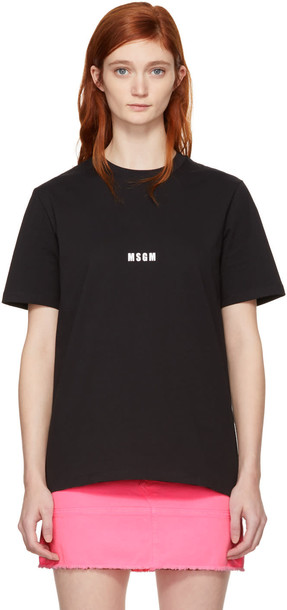MSGM t-shirt shirt t-shirt mini black top