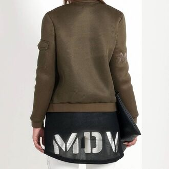 top maniere de voir vest mesh neoprene laser cut tunic
