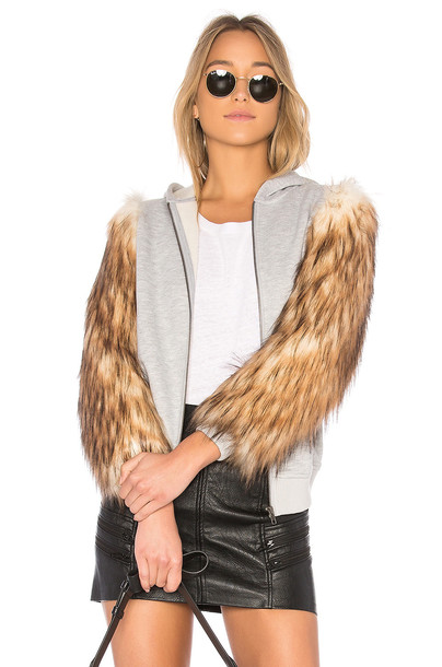 EAVES jacket hoodie jacket fur faux fur