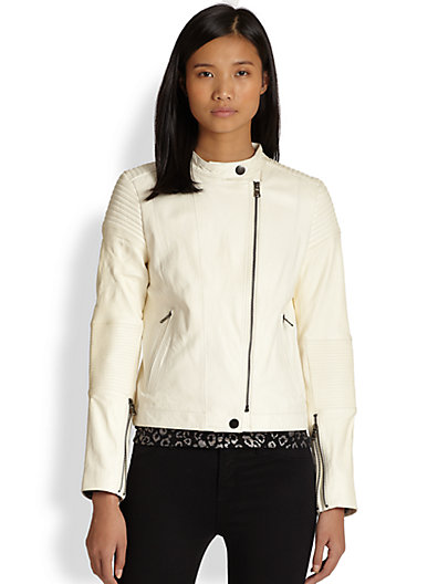 Marc by Marc Jacobs - Karlie Leather Moto Jacket - Saks.com