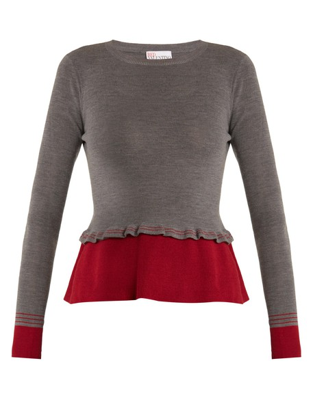 REDValentino sweater wool sweater wool grey