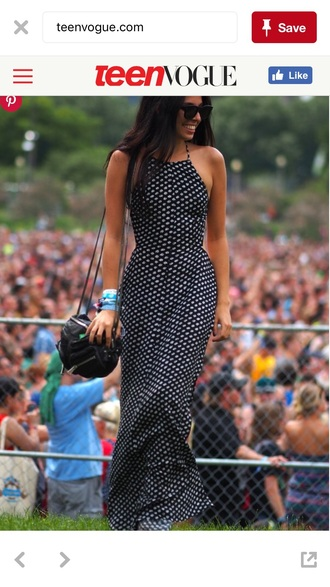 dress polka dots maxi dress