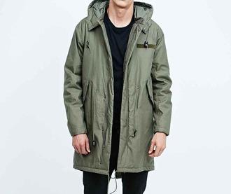 coat mens coat mens parka khaki khaki coat