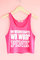 On wednesdays we wear pink crop tank top