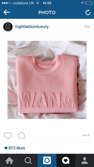 sweater light pink shirt pink tumblr instagram t-shirt