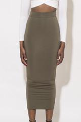 Ankle length bamboo skirt