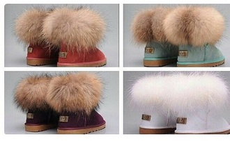 shoes ugg boots boots fur