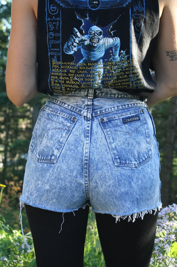 Vintage Calvin Klein Acid Wash High Waisted door TumblingDiceVintage