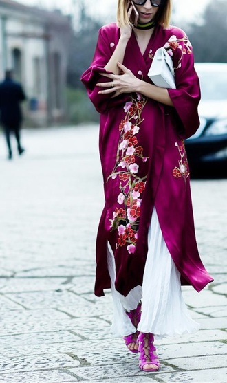 coat pink lovely lovely pepa beautiful trendy hot indie silk chic kimono pajamas look outfit streetwear streetstyle fashion style dreams perfect amazing fashionista love