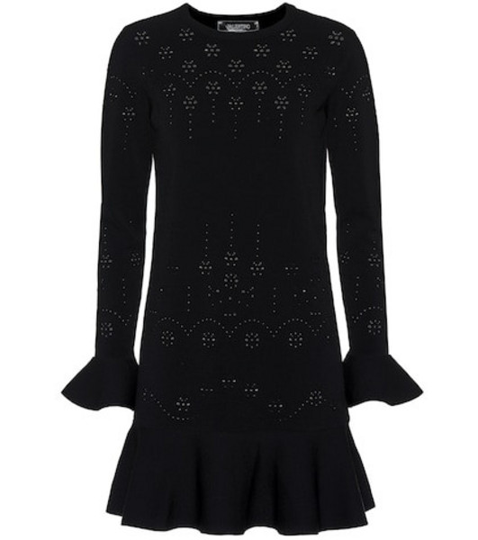 Valentino Stretch knit minidress in black