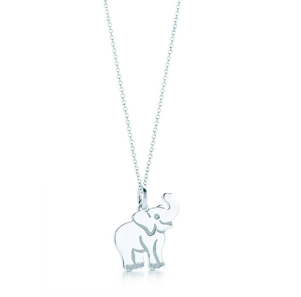 af3a53d3fd701 Elephant tag charm in sterling silver on a chain. | Tiffany & Co.