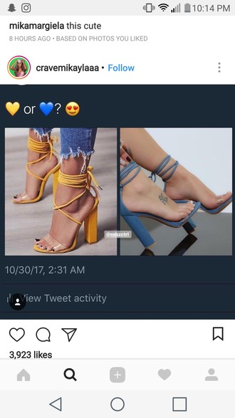 shoes yellow blue