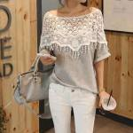 Lace Crochet Style Top