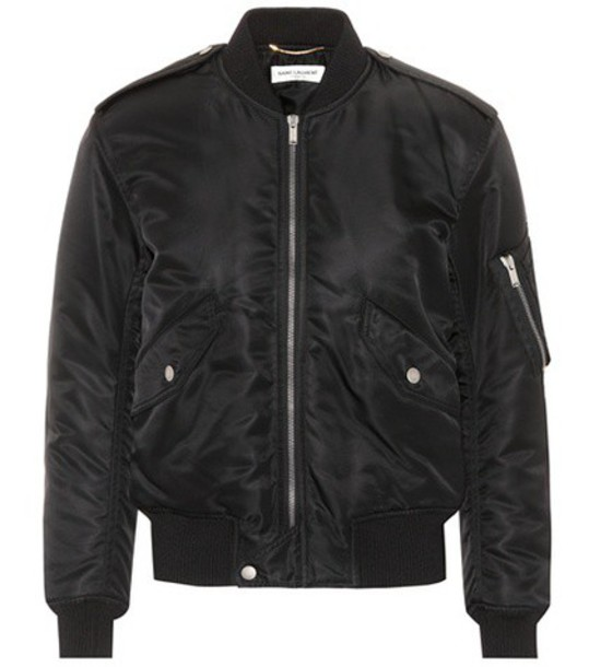 Saint Laurent jacket bomber jacket black