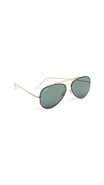 Ray-Ban sunglasses aviator sunglasses dark gold green