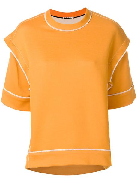sweater women cotton yellow orange