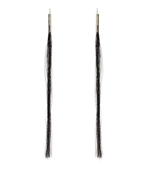 Helmut Lang hair horse earrings jewels