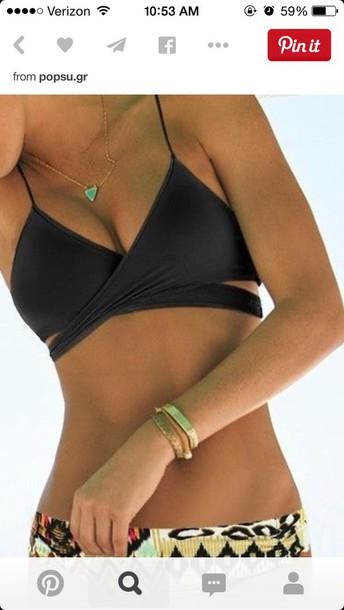 swimwear black bikini bikini top bikini top bikini