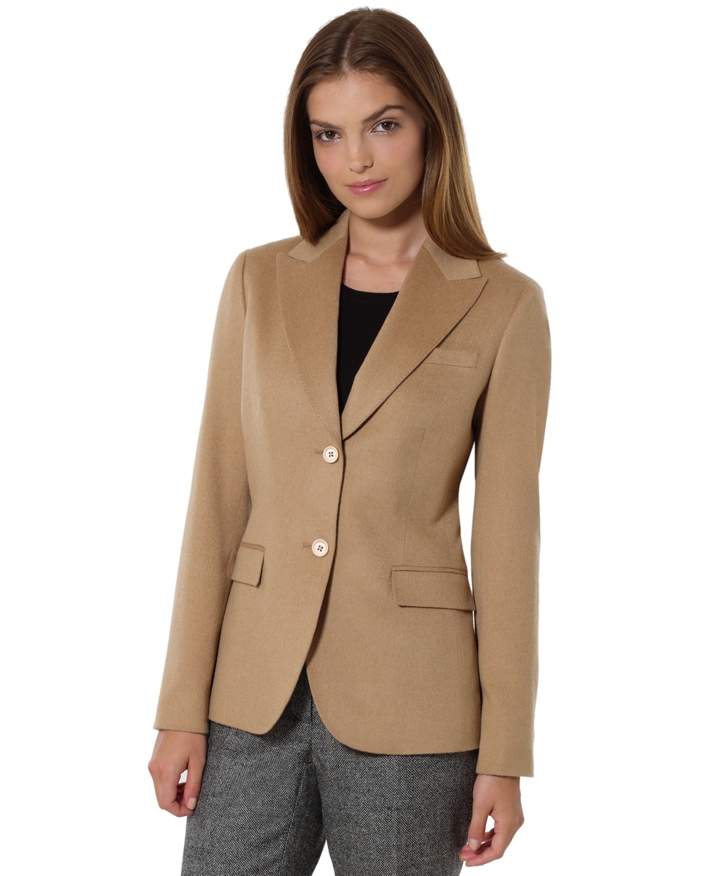 Camel Hair Two-Button Jacket - Brooks Brothers