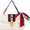 Gucci - small sylvie shoulder bag - women - leather - one size, white, leather