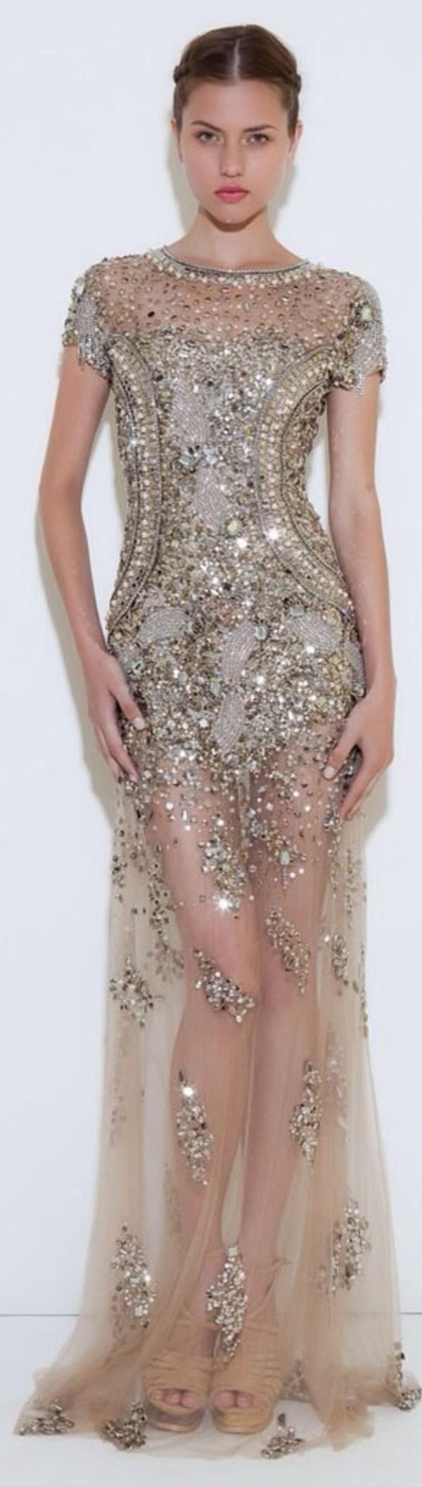 dress dress gold long
