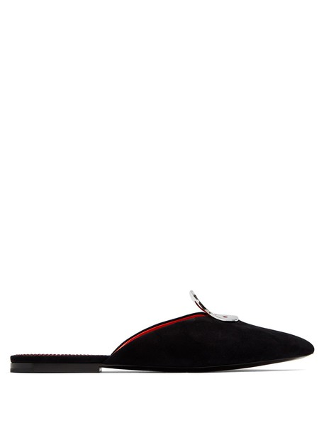 Proenza Schouler shoes suede black
