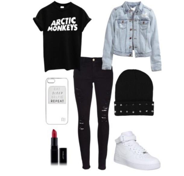 cardigan grunge shoes black t-shirt blouse jeans shirt