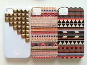jewels,studs,aztec,tribal pattern,Accessory,iphone cover,hippie,iphone,4s,phone cover,bag,iphone 5 case