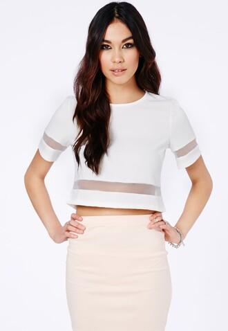 shirt mesh top white white top white mesh