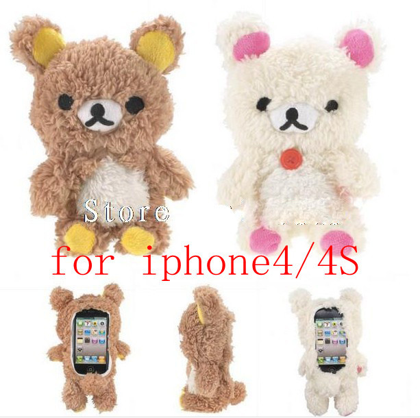 free shipping 1pcs 3D Rilakkuma Bear Idoll case for iphone 4 4s 4g Cartoon Plush idoll case for iphone 4s-in Phone Bags & Cases from Phones & Telecommunications on Aliexpress.com | Alibaba Group
