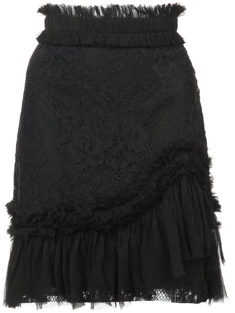 Alexis skirt women spandex cotton black silk