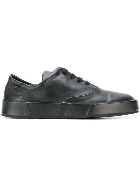 Jil Sander women sneakers leather black shoes