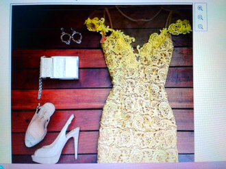 lace dress yellow dress transparent dress cute bodycon dress