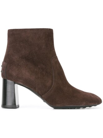 high women boots ankle boots leather suede brown shoes
