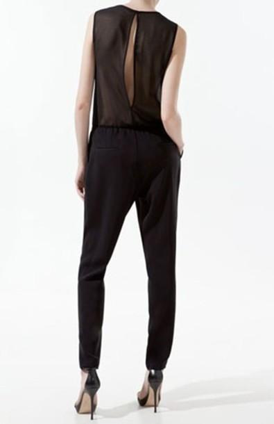pants black clothes jumpsuit edit tags